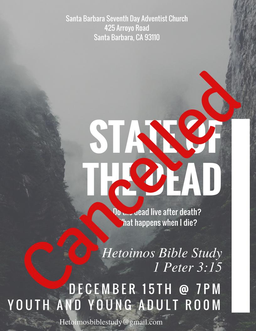 CANCELED: Hetoimos Bible Study Group - SDA Church