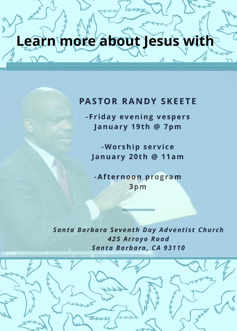 Visiting Evangelist: Pastor Randy Skeete